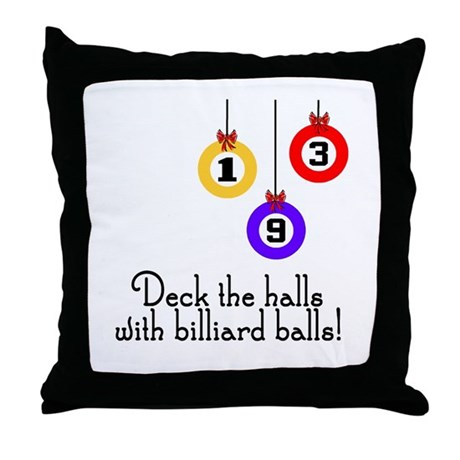 PoolChick Deck the Halls Throw Pillow