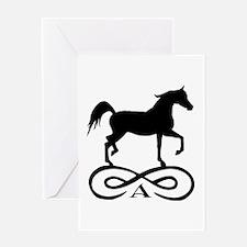 Infinity Arabian Horse Greeting Card