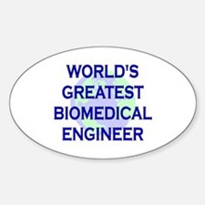 World's Greatest Biomedical E Oval Decal