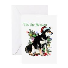 Shiba(blk)'Tis Greeting Card