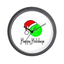 TennisChick Happy Holidays II Wall Clock