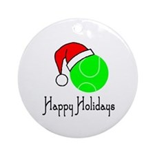 TennisChick Happy Holidays II Ornament (Round)