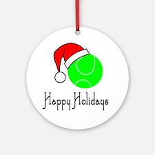 TennisChick Happy Holidays II Ornament (Round)