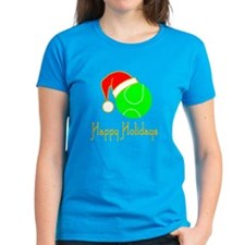 TennisChick Happy Holidays II Tee