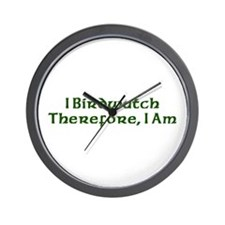 I Birdwatch Therefore I Am Wall Clock