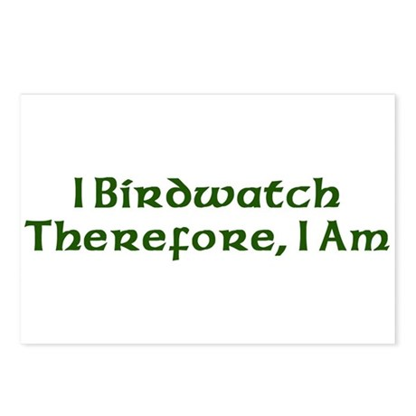 I Birdwatch Therefore I Am Postcards (Package of 8