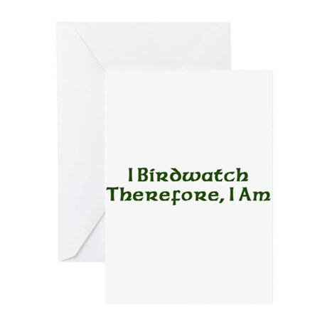 I Birdwatch Therefore I Am Greeting Cards (Pk of 1