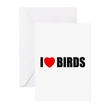 I Love Birds Greeting Cards (Pk of 10)