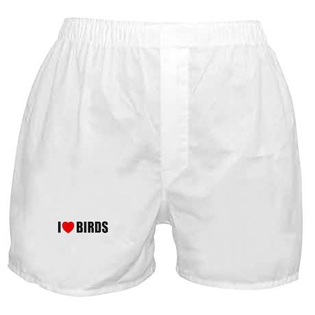 I Love Birds Boxer Shorts