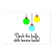 TennisChick Deck the Halls Postcards (Package of 8