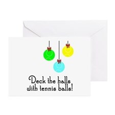 TennisChick Deck the Halls Greeting Cards (Pk of 1