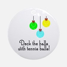 TennisChick Deck the Halls Ornament (Round)