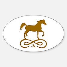 Gold Infinity Arabian Decal