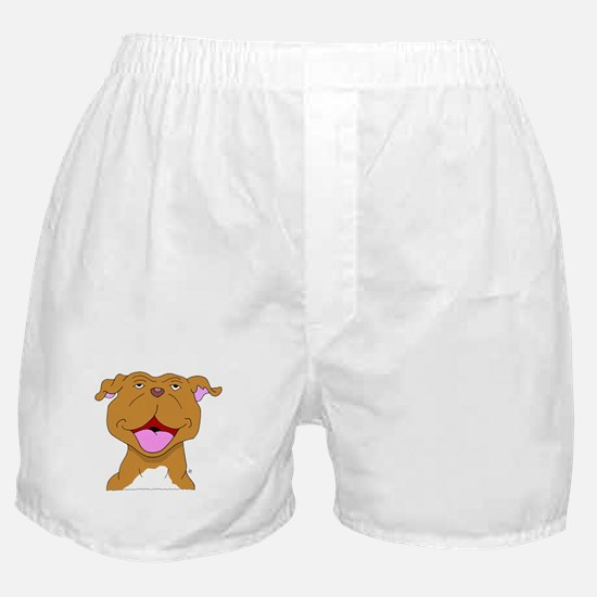 Smiling Pit Bull Terrier Boxer Shorts