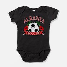 Cute Albania flag Baby Bodysuit