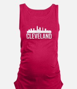 Skyline of Cleveland OH Maternity Tank Top