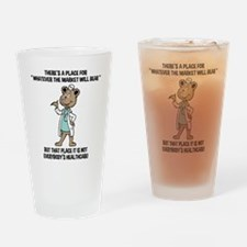 The Market Will Bear Drinking Glass