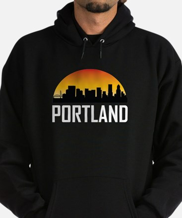 Sunset Skyline of Portland OR Hoody