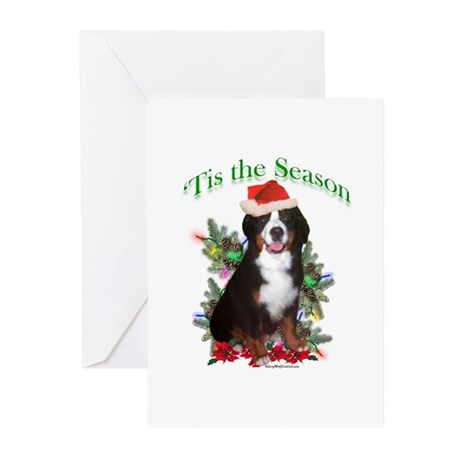 Bernese 'Tis Greeting Cards (Pk of 20)