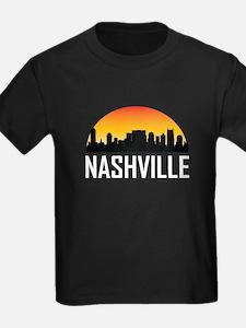 Sunset Skyline of Nashville TN T-Shirt