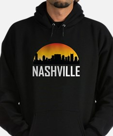 Sunset Skyline of Nashville TN Hoody