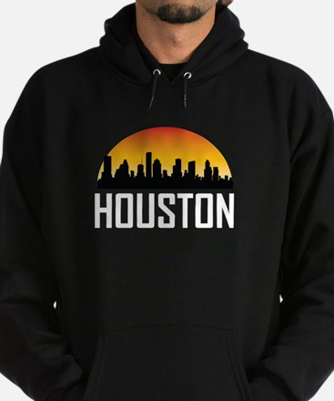 Sunset Skyline of Houston TX Hoody