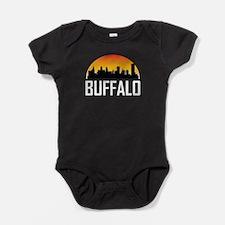 Sunset Skyline of Buffalo NY Baby Bodysuit
