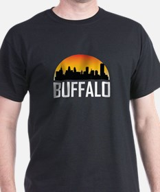 Sunset Skyline of Buffalo NY T-Shirt