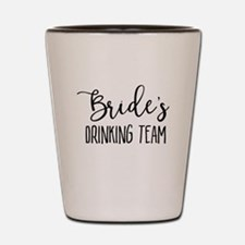 Bride's Drinking Team Bridal Party Shot Glass