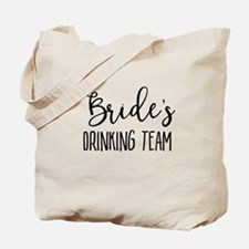 Bride's Drinking Team Bridal Party Tote Bag