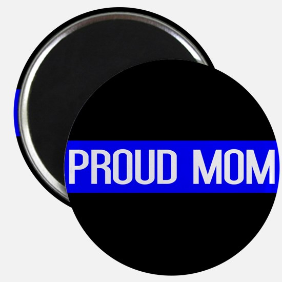 Police: Proud Mom (Thin Blue Line) Magnet