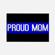 Police: Proud Mom (Thin Blue Line Rectangle Magnet