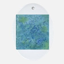 Unique Bleu Oval Ornament