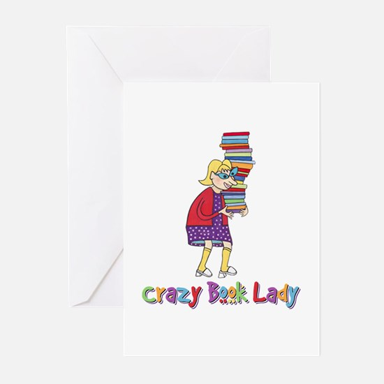 Crazy Book Lady Greeting Cards (Pk of 20)