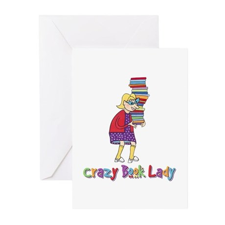 Crazy Book Lady Greeting Cards (Pk of 10)