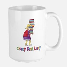 Crazy Book Lady Large Mug
