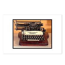 Cute Typewriter Postcards (Package of 8)
