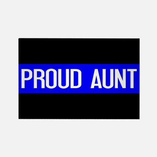 Police: Proud Aunt (Thin Blue Lin Rectangle Magnet