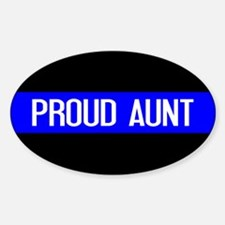 Police: Proud Aunt (Thin Blue Line) Decal