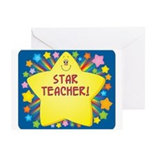 Star Teacher Greeting Card