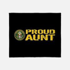 U.S. Army: Proud Aunt Throw Blanket