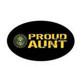 Army aunt Oval Car Magnets