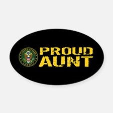 U.S. Army: Proud Aunt Oval Car Magnet