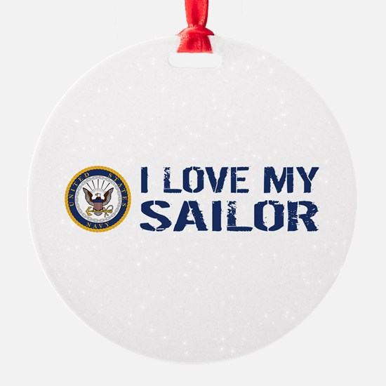 U.S. Navy: I Love My Sailor (Blue & Ornament
