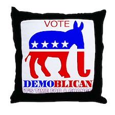 Demoblican Vote Throw Pillow