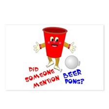Did Someone Mention Beer Pong Postcards (Package o