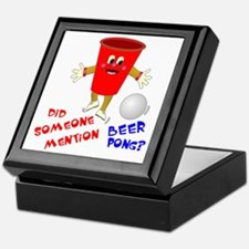 Did Someone Mention Beer Pong Keepsake Box
