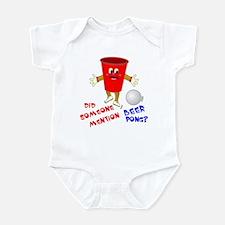 Did Someone Mention Beer Pong Infant Bodysuit