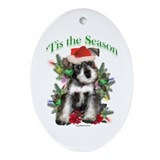 Miniature schnauzer christmas Oval Ornaments