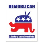Demoblican Small Poster